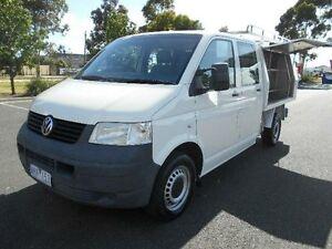 2008 Volkswagen Transporter T5 MY08 Crewvan (LWB) White 6 Speed Tiptronic Van Maidstone Maribyrnong Area Preview