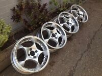 "SCHMIDT SPACE 4X100, 16"", 6.5J. Deep dish alloy wheels, Made in Germany, not borbet,hartge, ats aez"