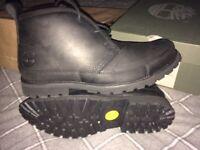 Mens black Timberland boots size 7UK 41EU.