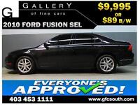 2010 FORD FUSION SEL *EVERYONE APPROVED* $0 DOWN $89/BW!