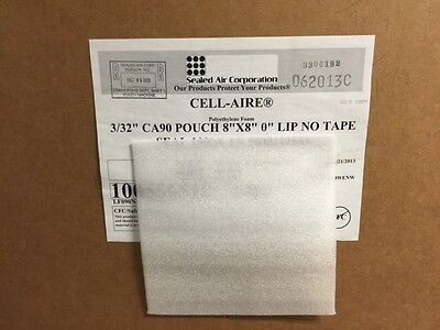 100 Sealed Air Foam Pouches Protectors 8 X 8 Reusable Made In Usafree Ship