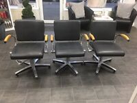 3 WELLA Hair Salon Stylist Chairs