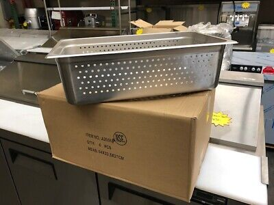 Perforated Steam Table Pan Hotel Full Size 6deep Stainless Steel Pans 6 Pack