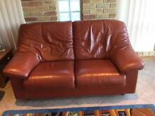 King quality leather suite, terracotta colour optional extra rug Glen Alpine Campbelltown Area Preview