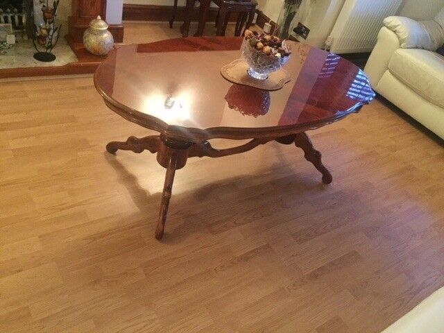 Dining Table 6 Chairs Coffee Side Cabinet Nest Of 3 Tables All