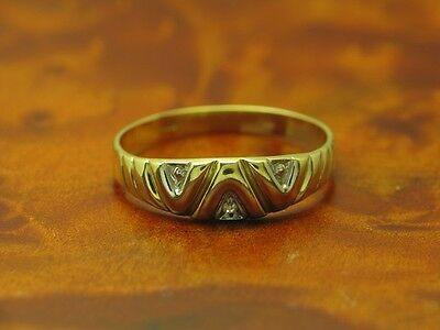 8kt 333 GOLD RING MIT DIAMANT BESATZ / DIAMANTRING / BRILLANTRING