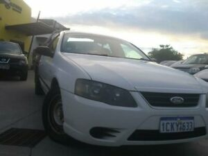 2007 Ford Falcon BF Mk II XL Super Cab White 4 Speed Sports Automatic Cab Chassis Welshpool Canning Area Preview