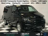 2015 65 VW Volkswagen Transporter T5 140 bhp SWB Highline Kombi Conversion