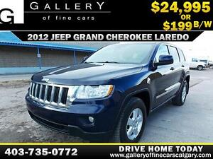 2012 Jeep Grand Cherokee Laredo 4x4 $199 bi-weekly APPLY NOW