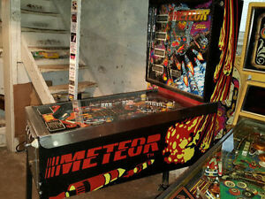 STERN METEOR PINBALL MACHINE FOR SALE London Ontario image 3