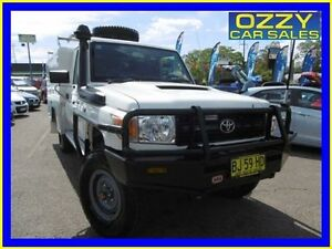 2010 Toyota Landcruiser VDJ79R 09 Upgrade Workmate (4x4) White 5 Speed Manual Cab Chassis Penrith Penrith Area Preview