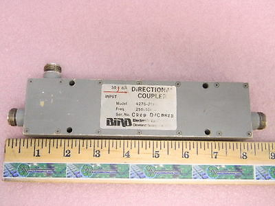 Bird 4278-211-3 Rf Directional Coupler 30db 250-500mhz Type-n