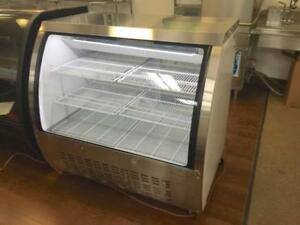 Display Cases, Curved Glass Coolers, Showcase Fridges, Merchandiser (5 YEAR WARRANTY ON COMPRESSOR = REAL QUALITY)