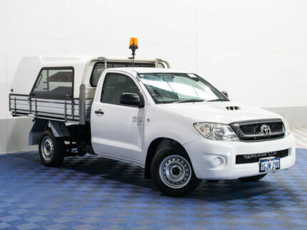 2010 Toyota Hilux KUN16R 09 Upgrade SR White 5 Speed Manual Cab Chassis