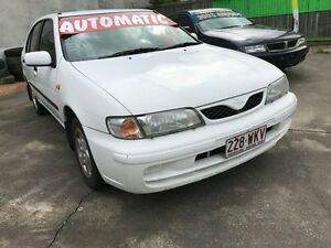 1999 Nissan Pulsar N15II Plus White 4 Speed Automatic Hatchback Clontarf Redcliffe Area Preview