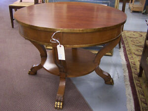 Round Clawfoot Table