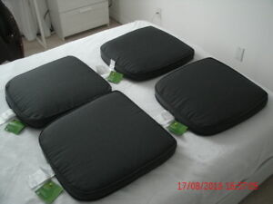 4 New Charcoal Chair Cushions indoor or outdoor