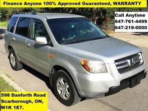 2008 Honda Pilot VP FINANCE 100% APPROVED (CALL 647-761-4499)