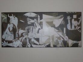 Large board mounted print of Picasso's Guernica painting, boxed & brand new.