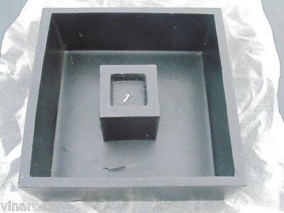 1 Stück Wachsschale mit Kerze Farbe Schwarz Größe 23cm*23 cm Sonderposten