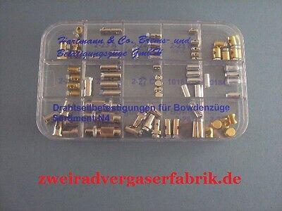 Nippelsortiment Schraubnippel Stellschrauben Endhülsen für Bowdenzug