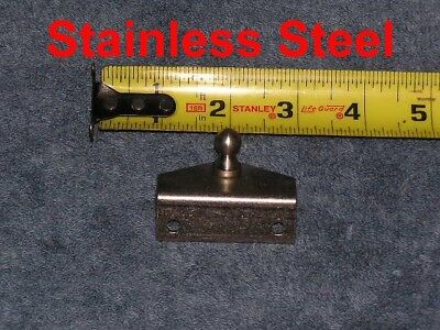 Marine Stainless Steel Gas Strut OUTSIDE Angle Bracket Spring Deck Plate Mount