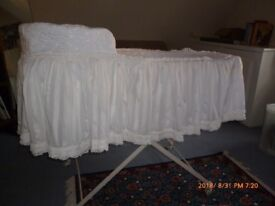 Vintage Baby Cradle with drapes