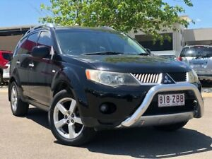 2008 Mitsubishi Outlander ZG MY08 XLS Black 6 Speed Constant Variable Wagon Garbutt Townsville City Preview