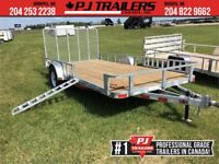 "2018 Galvanized 83"" x 12' Single Axle Utility  Trailer Winnipeg Manitoba Preview"