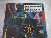 Vinyl LP Deep Heat 4 - Various Artists Play With Fire 32 Hottest House Hits