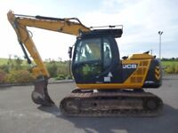 2013 JCB JS130LC, 6318 h, piped, quick hitch, vandal guards, check valves