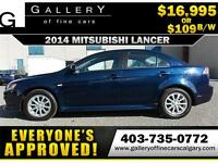 2014 Mitsubishi Lancer SE $109 BI-WEEKLY APPLY NOW DRIVE NOW