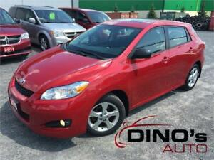 2013 Toyota Matrix | $69 Weekly $0 Down *OAC /Sunroof/One Owner