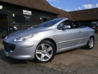 55 PEUGEOT 307 CC 2.0 HDi TURBO DIESEL SE POWER ROOF CONVERTIBLE 72K FSH AMAZING
