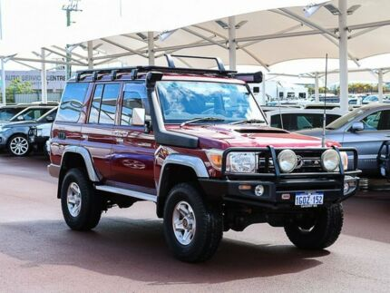 2010 Toyota Landcruiser VDJ76R 09 Upgrade GXL (4x4) Red 5 Speed Manual Wagon Jandakot Cockburn Area Preview
