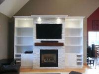 Ceramic & Tile Install: Floor, Shower, Fireplace, Backsplash.