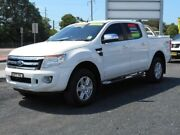2012 Ford Ranger PX XLT 3.2 (4x4) White 6 Speed Automatic Dual Cab Utility Tuggerah Wyong Area Preview