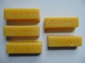 5 100% Pure Beeswax Blocks Approx. 30g Per Block
