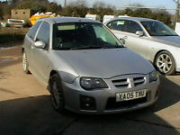 2005 MG ZR 1.4 105 3 DR HATCHBACK IN SILVER HPI CLEAR MOT TO JULY SPARE/ REPAIRS