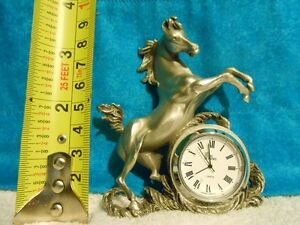 Pewter Horse Clocks for sale