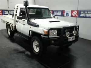 2008 Toyota Landcruiser VDJ79R Workmate (4x4) White 5 Speed Manual Cab Chassis Cardiff Lake Macquarie Area Preview