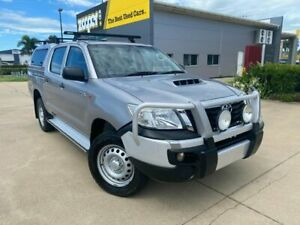 2015 Toyota Hilux KUN26R MY14 SR Double Cab Silver 5 Speed Automatic Utility Garbutt Townsville City Preview