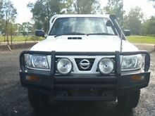 2005 Nissan Patrol GU DX (4x4) White 5 Speed Manual 4x4 Cab Chassis Dalby Dalby Area Preview