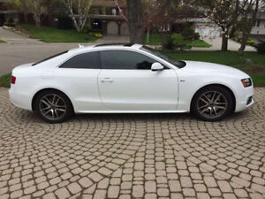 2010 White Audi A5 S-line Coupe