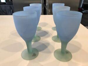 Goblet wine glasses