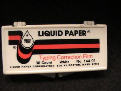 Liquid Paper Typing Correction Film No. 144-01new Old Stock