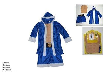 costume da PUGILE per bambini CARNEVALE travestimento Boxeur Ring 616952