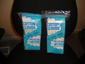 """Cotton pads """"Cotton Clouds"""" – 100% cotton – not a blend"""