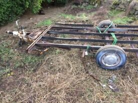 Caravan chassis for sale. £50, buyer to remove.