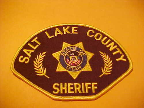 SALT LAKE COUNTY UTAH POLICE PATCH SHOULDER SIZE UNUSED STATE SEAL IN CENTER